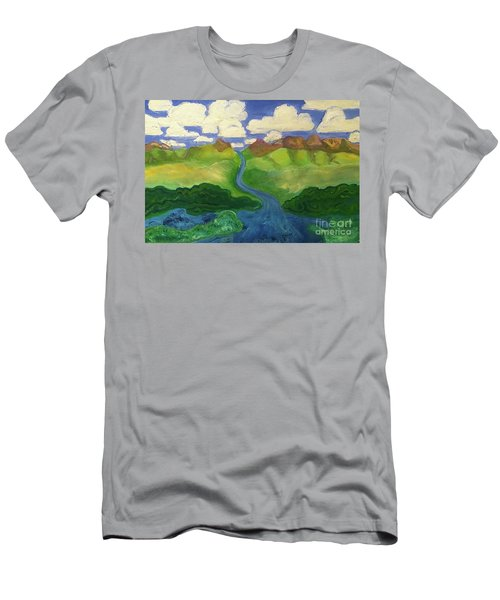Sky River To Sea Men's T-Shirt (Athletic Fit)