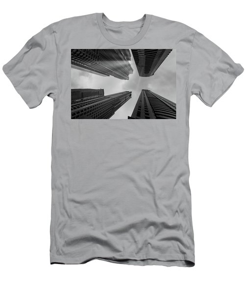 Skyscrapers Reach The Heaven Men's T-Shirt (Athletic Fit)