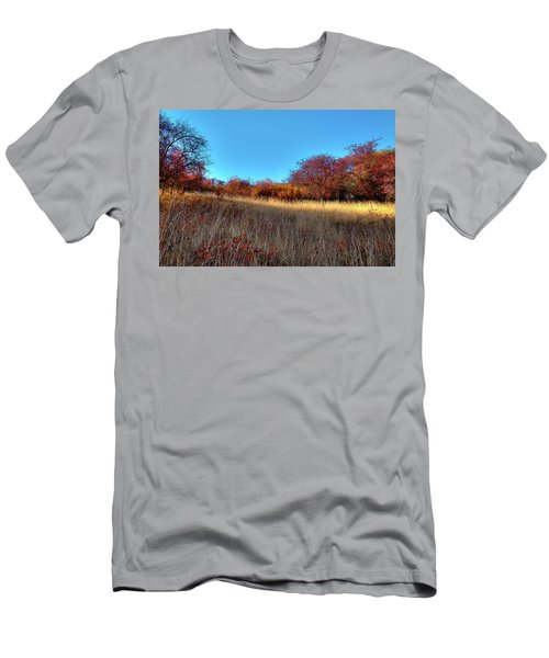 Men's T-Shirt (Athletic Fit) featuring the photograph Sliver Of Sunlight by David Patterson