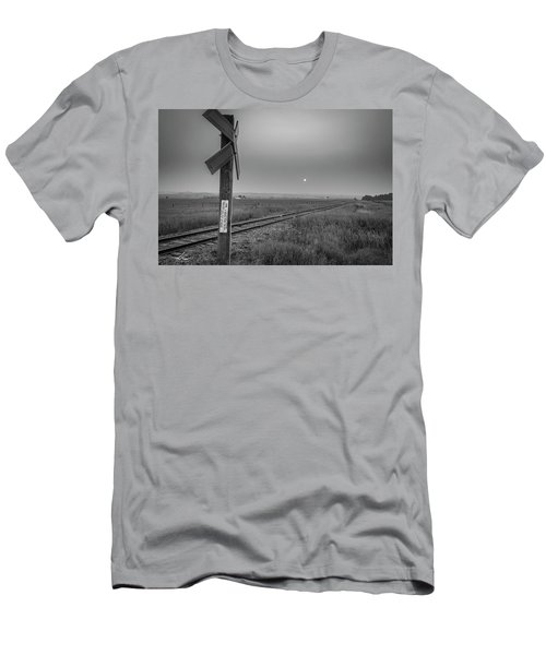 Smoke Haze Over The Prairie Men's T-Shirt (Athletic Fit)