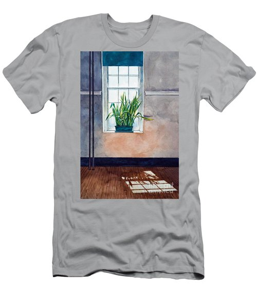 Snake Plant On Window Sill In Painting Men's T-Shirt (Athletic Fit)