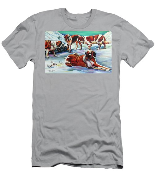 Snow Dogs Men's T-Shirt (Athletic Fit)