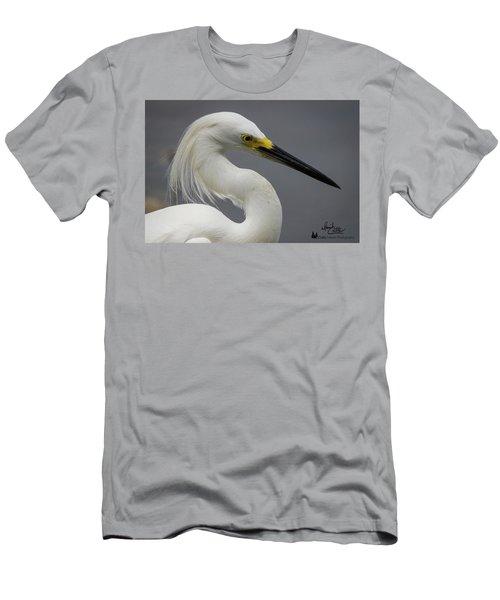 Snow Egret Portrait Men's T-Shirt (Athletic Fit)
