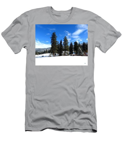 Snow In February Men's T-Shirt (Athletic Fit)