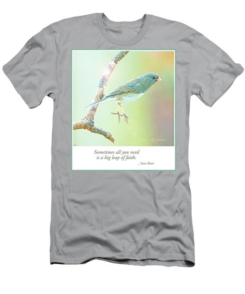 Snowbird Jumps From Tree Branch Men's T-Shirt (Athletic Fit)