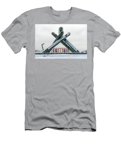 Snowy Olympic Cauldron Men's T-Shirt (Athletic Fit)