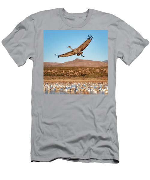 Soaring Sandhill Men's T-Shirt (Athletic Fit)