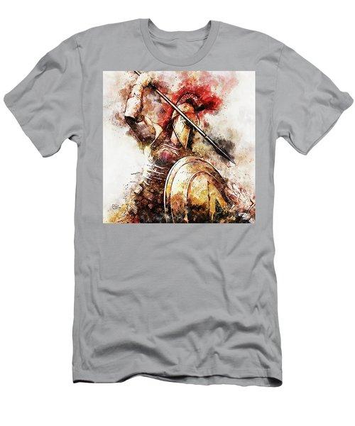 Spartan Hoplite - 54 Men's T-Shirt (Athletic Fit)