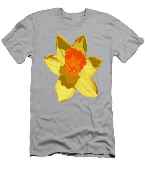 Spring Daffodil Isolated On Hot Pink Men's T-Shirt (Athletic Fit)