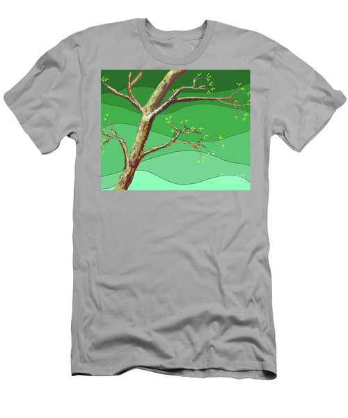 Spring Errupts In Green Men's T-Shirt (Athletic Fit)