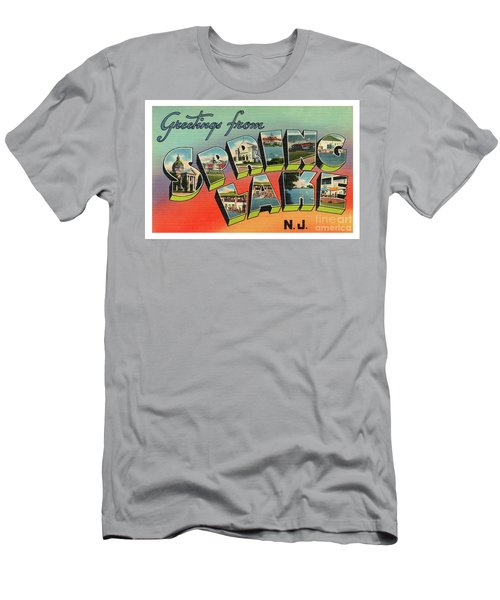 Men's T-Shirt (Athletic Fit) featuring the photograph Spring Lake Greetings by Mark Miller