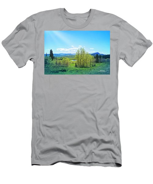 Men's T-Shirt (Athletic Fit) featuring the photograph Spring On The Western Slope Colorado by Mike Braun