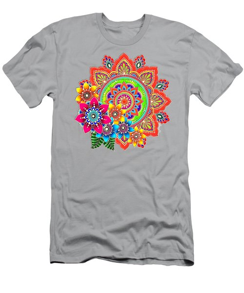 Men's T-Shirt (Athletic Fit) featuring the painting Springtime Mandala by Becky Herrera