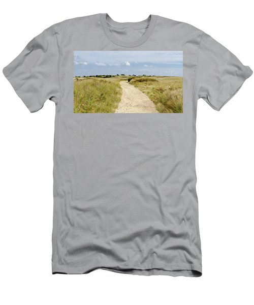 Stage Harbor Beach Path Men's T-Shirt (Athletic Fit)