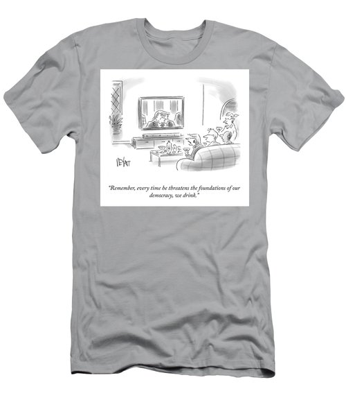 State Of The Union Drinking Game Men's T-Shirt (Athletic Fit)