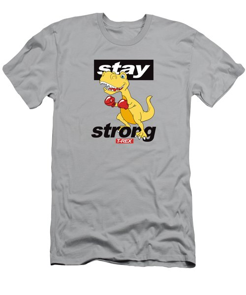 Stay Strong - Baby Room Nursery Art Poster Print Men's T-Shirt (Athletic Fit)