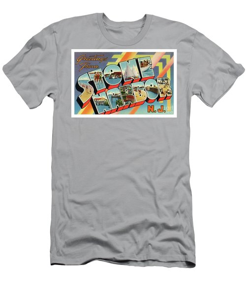 Men's T-Shirt (Athletic Fit) featuring the photograph Stone Harbor Greetings by Mark Miller
