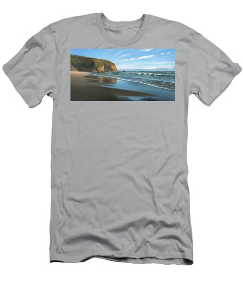 Strands Beach Dana Point Oil Painting Men's T-Shirt (Athletic Fit)