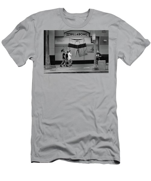 Men's T-Shirt (Athletic Fit) featuring the photograph Strolling Hollywood by Ron Cline