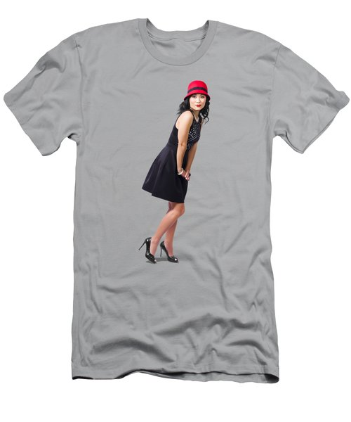 Stylish 1960s Fashion Pinup Woman Men's T-Shirt (Athletic Fit)