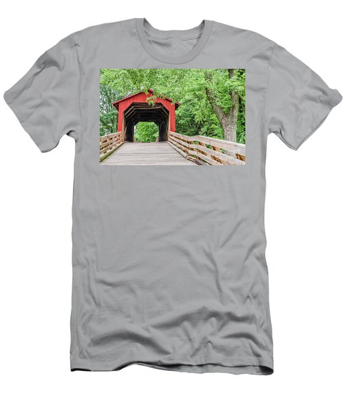 Sugar Creek Covered Bridge Men's T-Shirt (Athletic Fit)