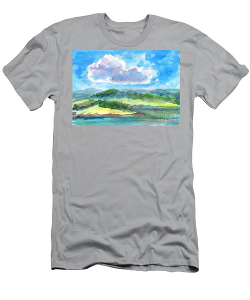 Summer Cloud In The Azure Sky Men's T-Shirt (Athletic Fit)