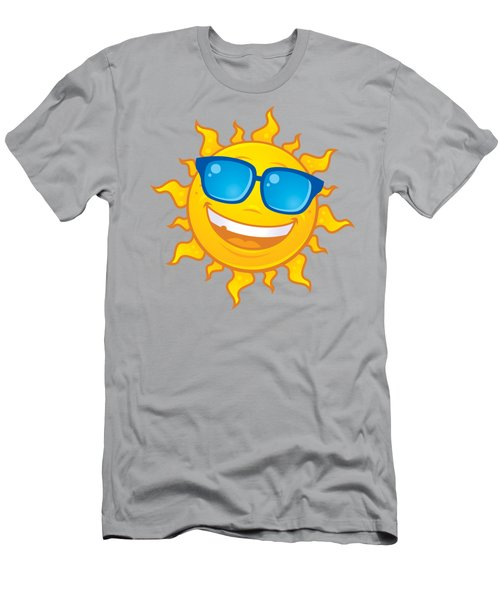 Summer Sun Wearing Sunglasses Men's T-Shirt (Athletic Fit)