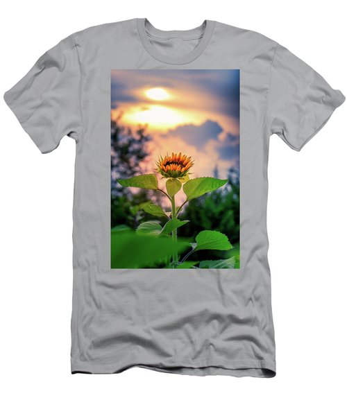 Men's T-Shirt (Athletic Fit) featuring the photograph Sunflower Opening To The Light by Allin Sorenson