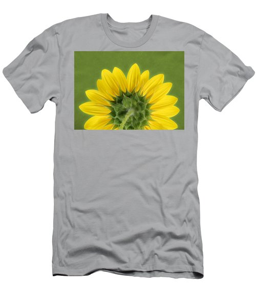 Sunflower Sunrise - Botanical Art Men's T-Shirt (Athletic Fit)