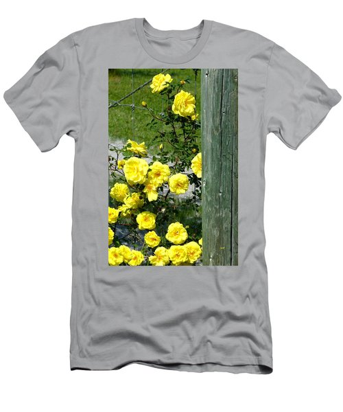 Sunny Yellow Roses Men's T-Shirt (Athletic Fit)