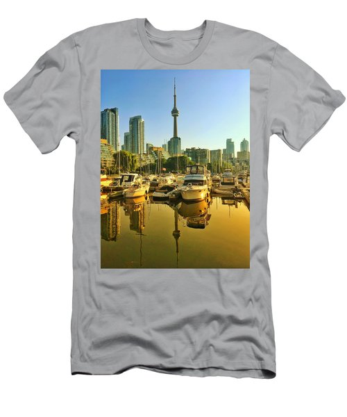 Sunrise At The Harbour Men's T-Shirt (Athletic Fit)