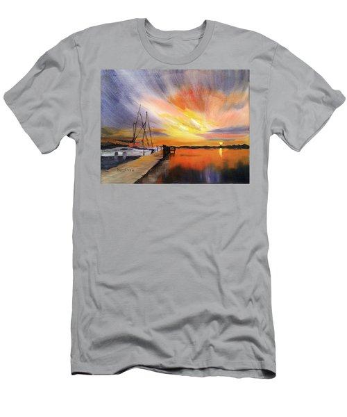 Sunset Harbor Men's T-Shirt (Athletic Fit)