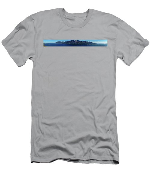 Sunset In Norway In Lofoten Island Men's T-Shirt (Athletic Fit)