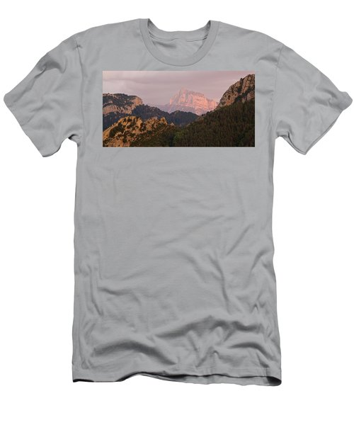 Men's T-Shirt (Athletic Fit) featuring the photograph Sunset On Pena Montanesa by Stephen Taylor