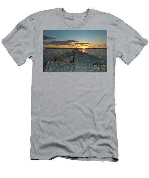 Sunset Seawall Men's T-Shirt (Athletic Fit)
