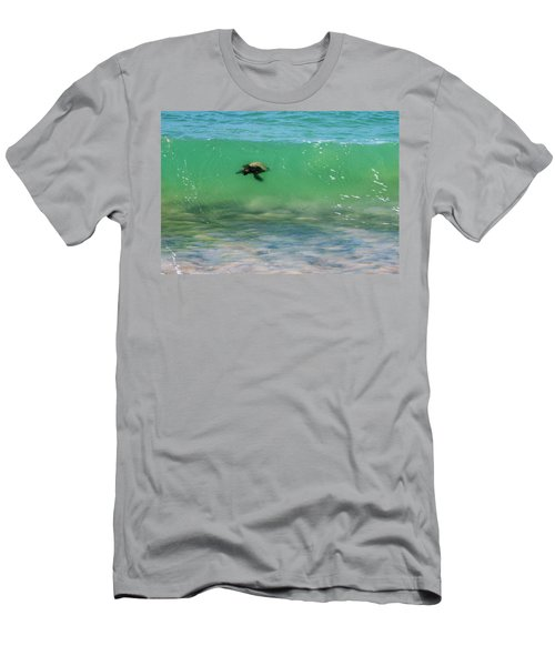 Surfing Turtle Men's T-Shirt (Athletic Fit)