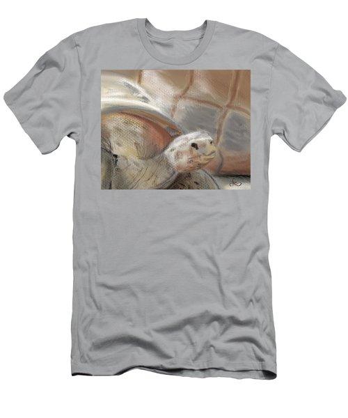 Men's T-Shirt (Athletic Fit) featuring the digital art Sweet Tortoise by Fe Jones