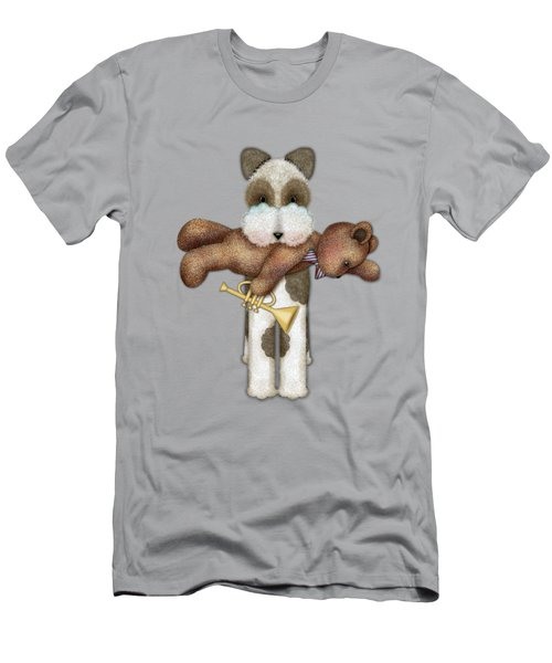 T Is For Terrier And Teddy Men's T-Shirt (Athletic Fit)