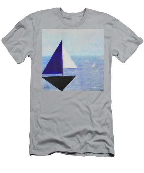 Men's T-Shirt (Athletic Fit) featuring the painting Tactical by Kim Nelson