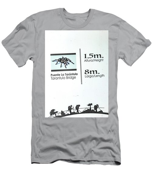 Tarantula Bridge Sign Men's T-Shirt (Athletic Fit)