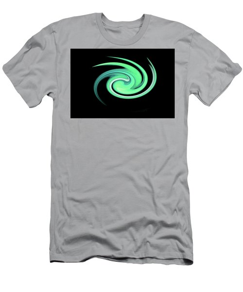 Teal Swirling Magnolia Men's T-Shirt (Athletic Fit)