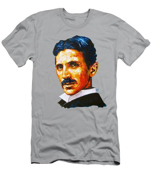 Tesla - Pure Genius Men's T-Shirt (Athletic Fit)