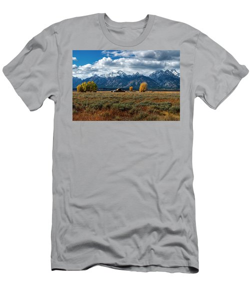 Men's T-Shirt (Athletic Fit) featuring the photograph Tetons And Mormon Row by Scott Read