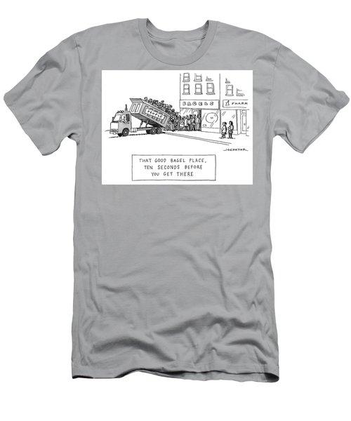 That Good Bagel Place Men's T-Shirt (Athletic Fit)