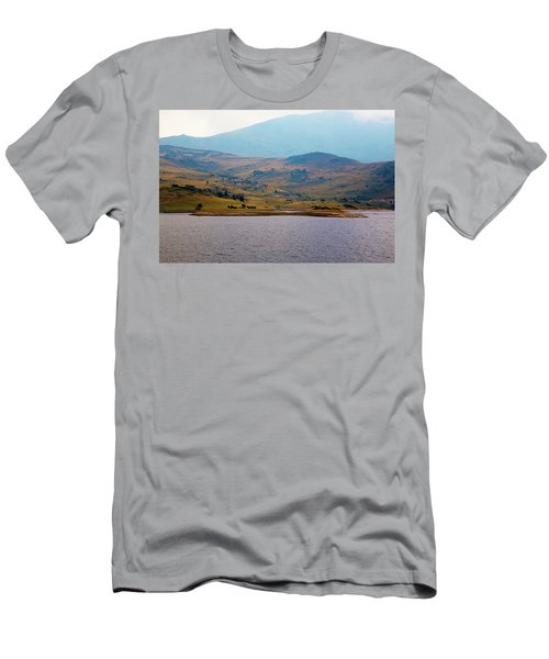 Men's T-Shirt (Athletic Fit) featuring the photograph That Small Island by Milena Ilieva