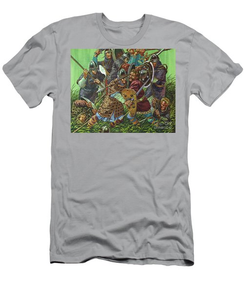 The Battle Of Hastings, 1066 Ad, Fought With Spears, Swords And Axes  Men's T-Shirt (Athletic Fit)