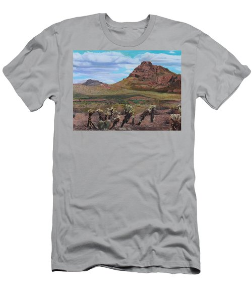 The Cholla At Mount Mcdowell, Arizona Men's T-Shirt (Athletic Fit)