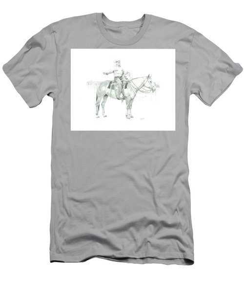 Men's T-Shirt (Athletic Fit) featuring the painting The Cowboy Way by Tammy Taylor
