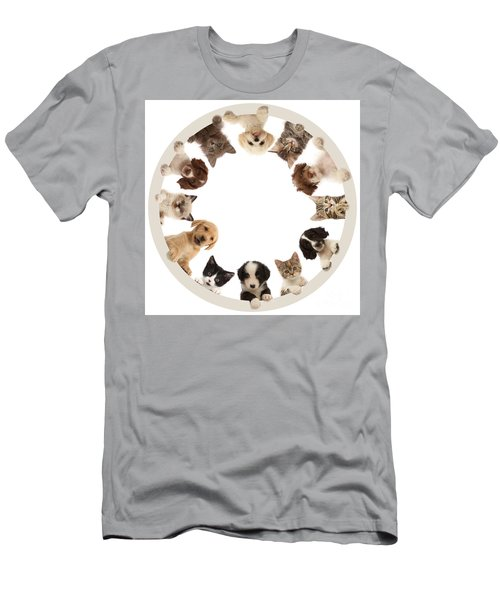 Men's T-Shirt (Athletic Fit) featuring the photograph The Furcle Of Life by Warren Photographic