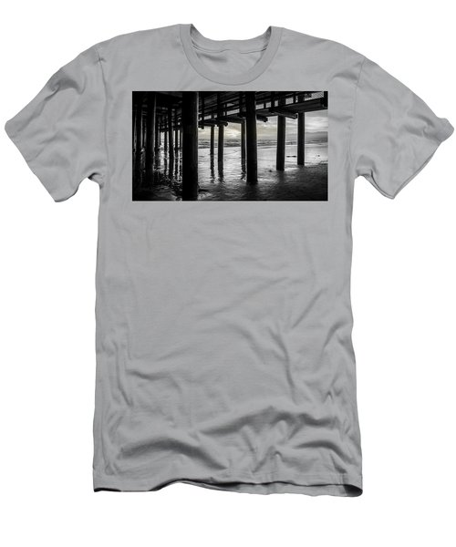 The Light Downunder - B And W Men's T-Shirt (Athletic Fit)